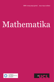 Mathematika Volume 58 - Issue 2 -