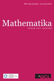 Mathematika Volume 59 - Issue 1 -