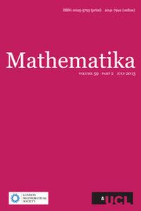 Mathematika Volume 59 - Issue 2 -