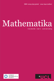 Mathematika Volume 60 - Issue 1 -