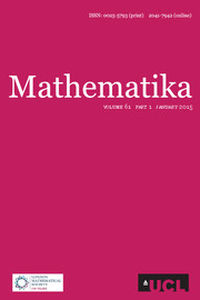 Mathematika Volume 61 - Issue 1 -