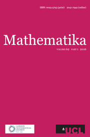 Mathematika Volume 62 - Issue 1 -