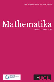 Mathematika Volume 63 - Issue 2 -