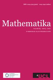 Mathematika Volume 63 - Issue 3 -