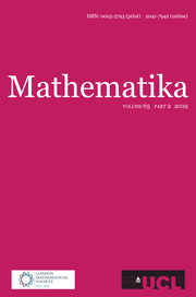 Mathematika Volume 65 - Issue 2 -