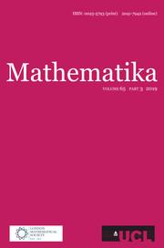 Mathematika Volume 65 - Issue 3 -