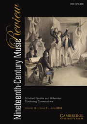 Nineteenth-Century Music Review Volume 13 - Issue 1 -
