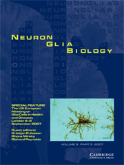 Neuron Glia Biology Volume 3 - Issue 3 -
