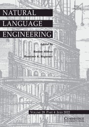 Journal of Natural Language Engineering, Cambridge University Press