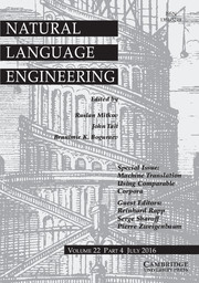 Natural Language Engineering Volume 22 - Special Issue4 -  Machine Translation Using Comparable Corpora