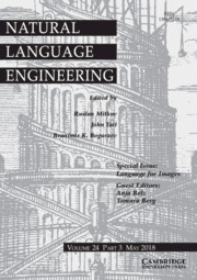 Natural Language Engineering Volume 24 - Special Issue3 -  Language for Images