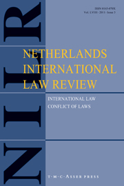 Netherlands International Law Review Volume 58 - Issue 3 -