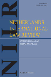 Netherlands International Law Review Volume 60 - Issue 1 -
