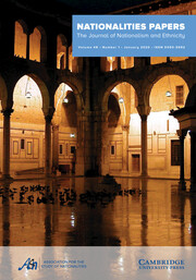 Nationalities Papers Volume 48 - Special Issue1 -  Special Issue on the Emergence and Resilience of Parastates