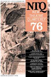 New Theatre Quarterly Volume 19 - Issue 4 -