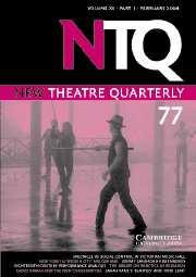 New Theatre Quarterly Volume 20 - Issue 1 -