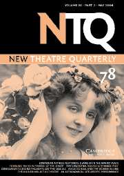 New Theatre Quarterly Volume 20 - Issue 2 -
