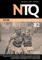 New Theatre Quarterly Volume 21 - Issue 2 -