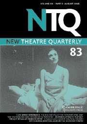 New Theatre Quarterly Volume 21 - Issue 3 -