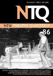 New Theatre Quarterly Volume 22 - Issue 2 -