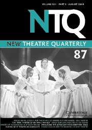 New Theatre Quarterly Volume 22 - Issue 3 -