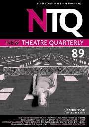 New Theatre Quarterly Volume 23 - Issue 1 -