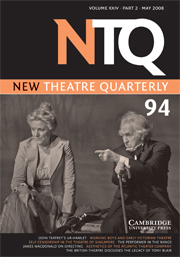 New Theatre Quarterly Volume 24 - Issue 2 -