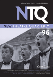 New Theatre Quarterly Volume 24 - Issue 4 -