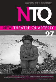 New Theatre Quarterly Volume 25 - Issue 1 -