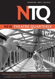 New Theatre Quarterly Volume 26 - Issue 2 -
