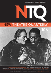 New Theatre Quarterly Volume 27 - Issue 2 -