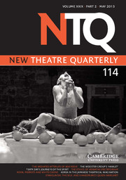New Theatre Quarterly Volume 29 - Issue 2 -