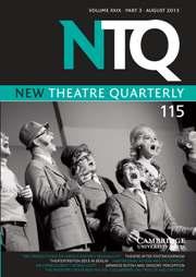 New Theatre Quarterly Volume 29 - Issue 3 -