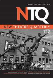 New Theatre Quarterly Volume 31 - Issue 2 -