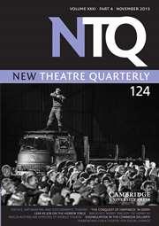 New Theatre Quarterly Volume 31 - Issue 4 -