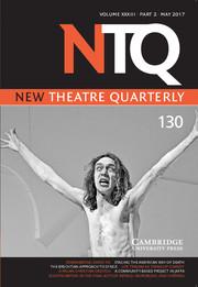New Theatre Quarterly Volume 33 - Issue 2 -
