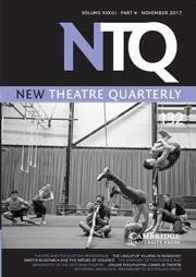 New Theatre Quarterly Volume 33 - Issue 4 -