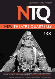 New Theatre Quarterly Volume 35 - Issue 2 -