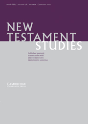 New Testament Studies Volume 58 - Issue 1 -