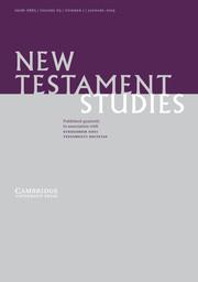 New Testament Studies Volume 65 - Issue 1 -