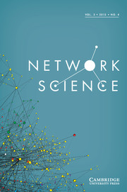 Network Science Volume 3 - Issue 4 -