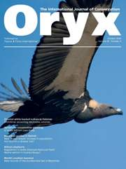 Oryx Volume 40 - Issue 4 -