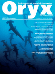 Oryx Volume 50 - Issue 1 -