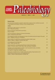 Paleobiology Volume 44 - Issue 2 -