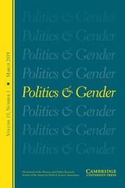 Politics & Gender Volume 15 - Issue 1 -