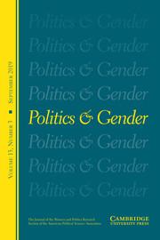 Politics & Gender Volume 15 - Special Issue3 -  Special Symposium on Michelle Obama
