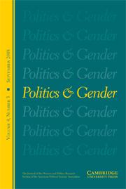 Politics & Gender Volume 4 - Issue 3 -