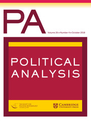 Political Analysis Volume 26 - Issue 4 -