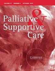 Palliative & Supportive Care Volume 13 - Issue 5 -