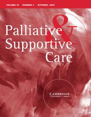 Palliative & Supportive Care Volume 14 - Issue 5 -
